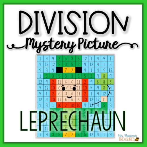 Math mystery picture for St. Patrick's Day - leprechaun division