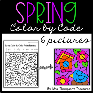 Spring color by code math and reading pictures