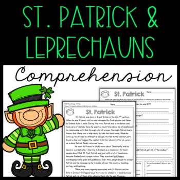 St. Patrick & Leprechauns Reading Comprehension