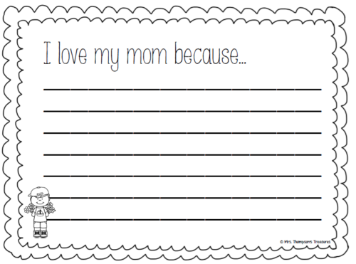 Free Mother's Day writing crafts activity. Includes a variety of templates.