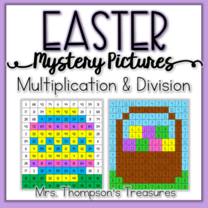Easter math mystery pictures multiplication and division