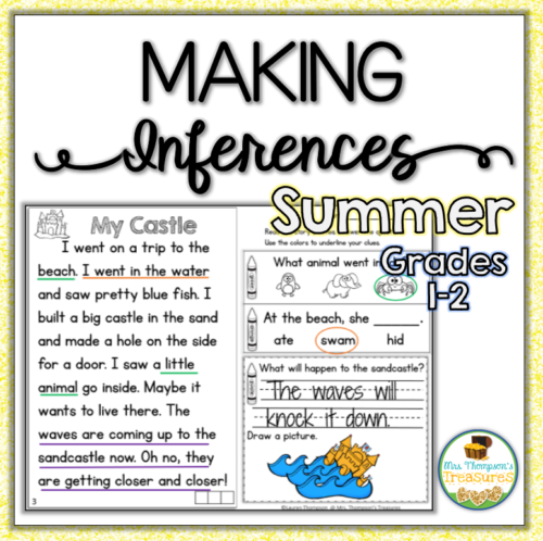 Summer reading passages and making inferences questions