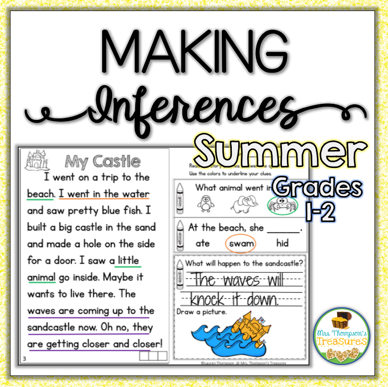 Summer Inference Reading Passages - Mrs. Thompson's Treasures