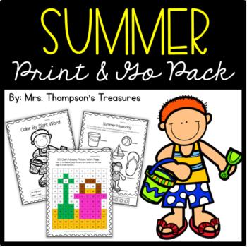 Summer Print & Go