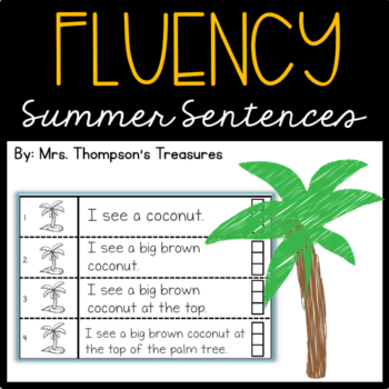 Summer Fluency Sentences