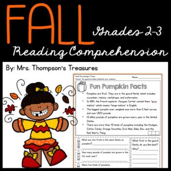 Fall Reading Comprehension for Grades 2-3