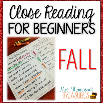 Fall Reading Comprehension for Beginners