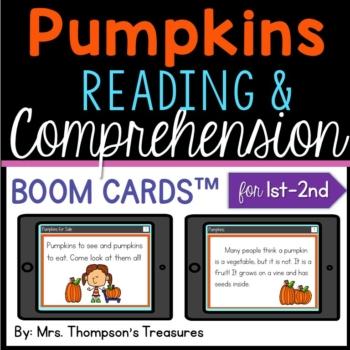Pumpkin Reading Comprehension Boom Cards™