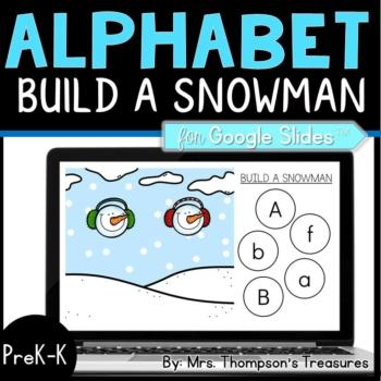 Build a Snowman Alphabet for Google Slides™