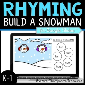 Build a Snowman Rhyming Words for Google Slides™